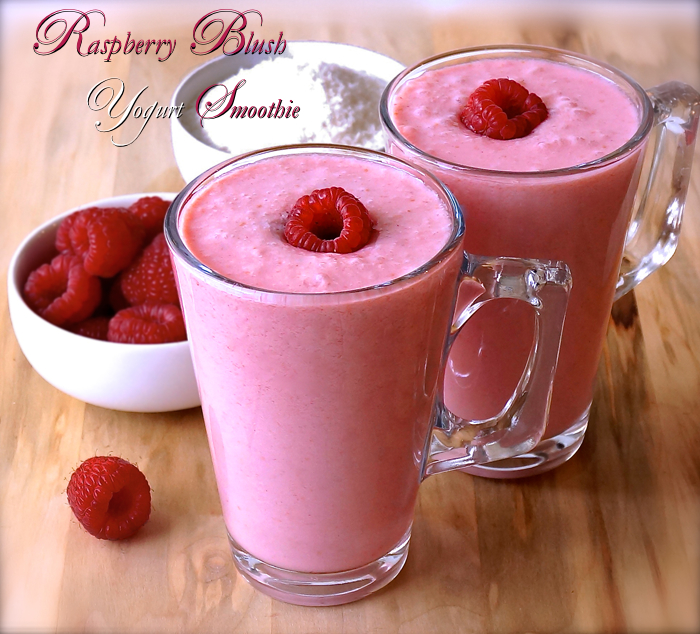 Raspberry Blush Yogurt Smoothie - raw vegan
