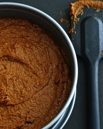 Hot Chocolate Cake with Paprika Mango Frosting - raw vegan
