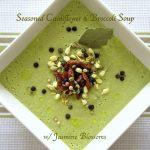 Seasoned Cauliflower and Broccoli Soup with Jasmine