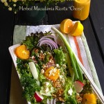 Gratitude Salad with Orange Vinaigrette and Herbed Macadamia Ricotta Cheese