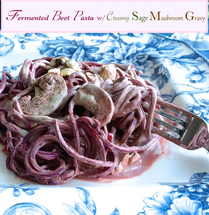 fermented-beet-pasta-with-creamy-sage-mushroom-gravy-main-image