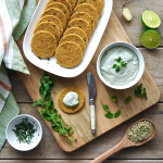 "Rosemary ""Cheese"" Crackers with Oregano Hemp Dip"