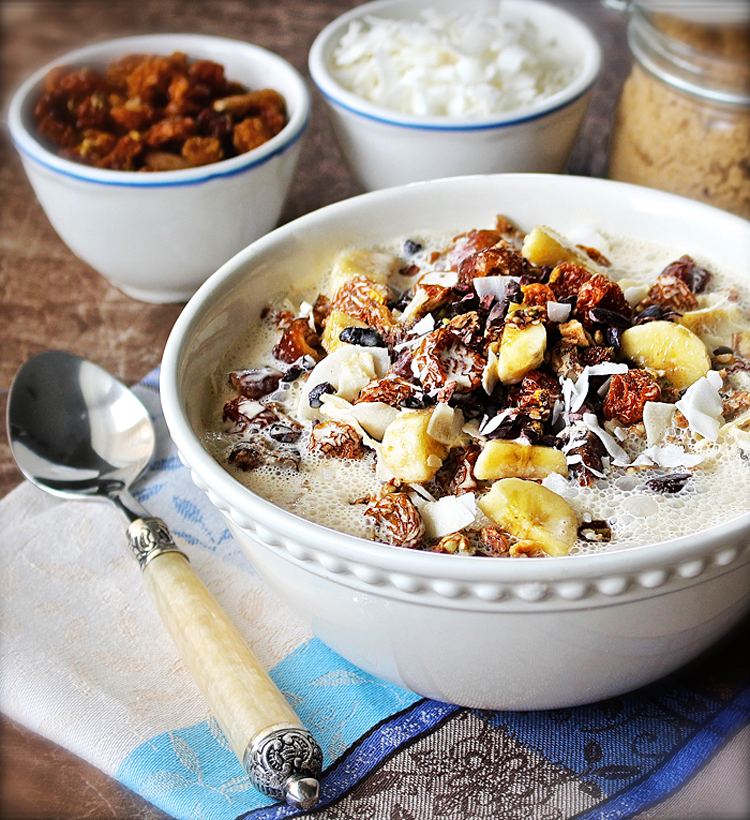 Super-Charged Breakfast Bowl with Brazilian Banana Milk